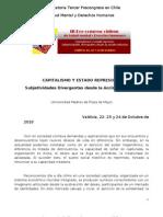 Convocatoria Precongreso Salud Mental y Derechos Humanos 2010