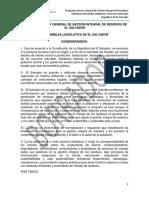 Proyecto Final de La Ley de Residuos de El Salvador 12 Oct 2016