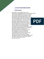 war poetry anthology
