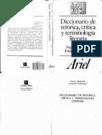 Diccionario de Retorica, Critica y Terminologia Literaria(1)
