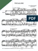 Vocalise Rachmaninoff Richardson's Transcription