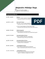 CV Roberto Hidalgo Vega