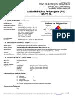 HOJA de SEGURIDAD Aceite Hidráullico Antidesgaste VG-68