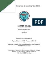 NEST2018 Brochure Syllabus