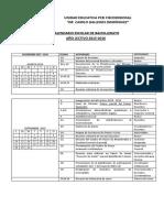 Calendario Bachillerato 2015-2016