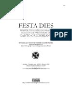 Festa Dies Manual 2009