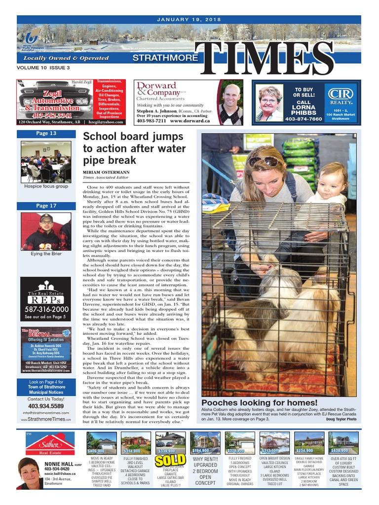 January 19, 2018 Strathmore Times   Nature   Wellness
