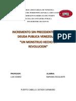 DEUDA PUBLICA PRESUPUESTO II