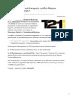 A qué firmas de autotransporte certificó Mejores Empresas Mexicanas