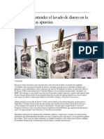 Claves Para Entender El Lavado de Dinero en La Industria de Las Apuestas