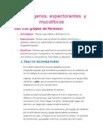 Antitusigenos y mucoliticos