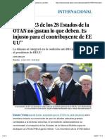 Trump 23 de Los 28 Estados de La OTAN No Gastan Lo Que Deben EL PAÍS