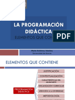 La Programación Didáctica. Gutiérrez, m..Ppsx