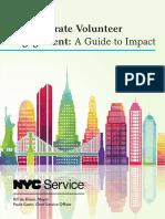 Employee Volunteer Engagement Guide