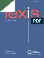 Lexis Vol. XXXI (1 y 2) 2007