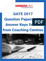 GATE 2017 Question Papers With Answer Keys for ME From Coaching Centres