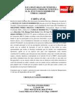 Carta Aval Miletza