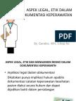 Aspek Legal, Etik Dalam Dokumentasi Keperawatan