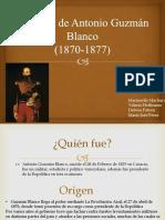 Septenio de Antonio Guzmán Blanco Diapositiva