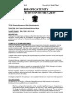 Elevator Amusement Ride Safety Inspector 07-11-13