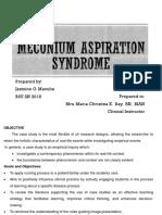 MECONIUM ASPIRATION SYNDROME CASE PRESENTATION