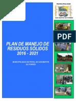 Plan de Manejo Manejo de Residuos Sólidos del Distrito de San Martín de Porres