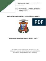 TDR Madera Tornillo