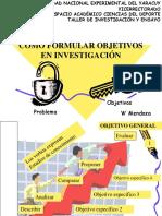 1. Objetivos en Investigacion