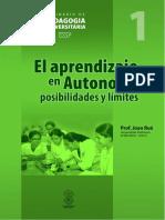 El aprendizaje en Autonomía posibilidades y límites