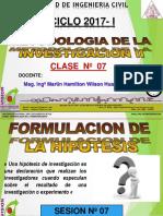 Clase 07 2017 i Las Hipotesis
