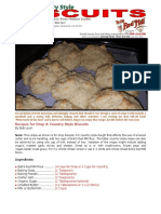 Bob Levin's Biscuit Recipe!