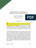 9. TRASLOSHEROS, Jorge - Orden Judicial y Herencia Medieval en Nueva España