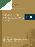 Simplicius, On Aristotle's Physics 1.5-9