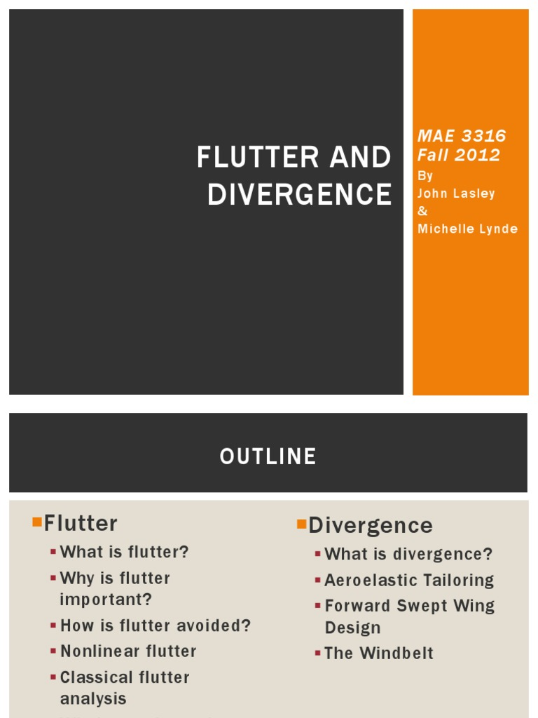Honors MAE 3316 - Flutter and Divergence - Lasley and Lynde