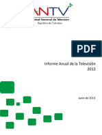 Informe Anual de Televsion 2012
