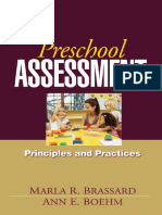 Preschool Assessment - Principles and Practices