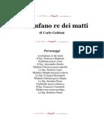 Goldoni Carlo - Arcifanfano Re Dei Matti
