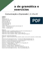 Apostila de gramática e exercícios
