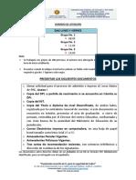 6. Documentos a Presentar