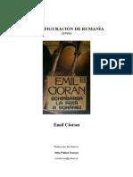 Cioran, Emil - (1936) La Transfiguración de Rumania