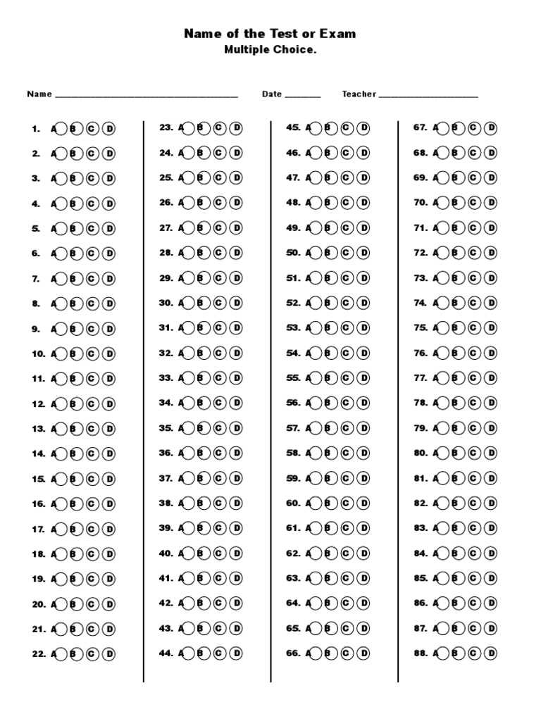 Multiple Choice Template Word from imgv2-1-f.scribdassets.com