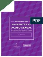 Orientaciones Para Enfrentar El Acoso Sexual en La Universidad de Chile