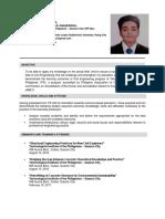 Curriculum Vitae Anthony Dacuno