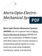 Micro Opto Electro Mechanical Systems