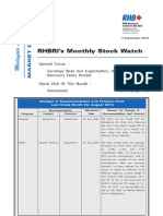 RHBRI's Monthly Stock Watch