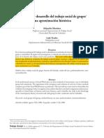 2.2. Martínez, Alejandra & Peralta, Lady (2006). Emergencia y Desarrollo Del Trabajo Social de Grupo-una Aproximación Histórica