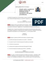 Lei Complementar 67 2017 Salvador BA