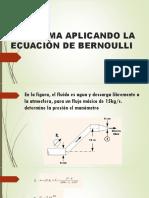 Problema Aplicando La Ecuación de Bernoulli