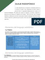 Elementos Del Lenguaje Radiofónico. Radio