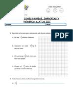""""""" Fracciones Propias, Impropias y Números Mixtos (II)"""""""